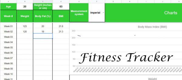 Measurement Tracking Spreadsheet