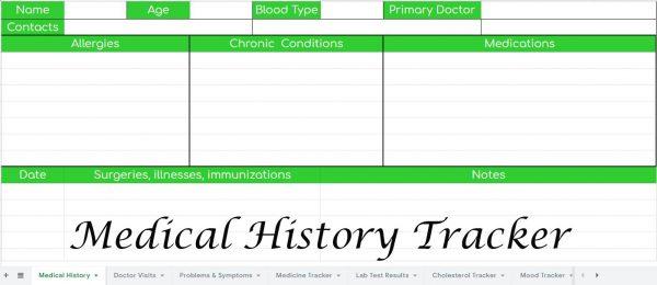 Medical History Tracker
